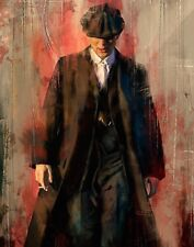 """Tommy Shelby Extra Large Peaky Blinders Wall Art Canvas 20"""" X 30"""" solid frame"""