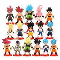 16pcs Son Goku Anime Model Toys Dolls Collectible Dragon Ball Z Cartoon Set Gift