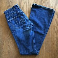 AG Adriano Goldschmied 'The New Legend' Womens Dark Wash Flare Jeans Size 24R