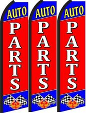 Auto Parts Standard Size Swooper Flag banner sign pk of 3