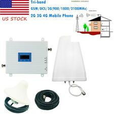 2G 3G 4G LTE 900/1800/2100MHZ Mobile Phone Signal Booster Tri-band Amplifier