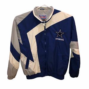 Dallas Cowboys NFL Pro Line Starter Medium Windbreaker Jacket Sz M Vintage