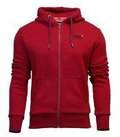 Superdry Mens New Orange Label Classic Long Sleeve Full Zip Hoody Red Grit