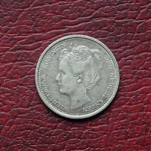 Netherlands 1904 silver 10 cents