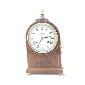 Comitti of London Wooden Mantle Clock 13 inches Mahogany 17056 CP