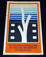 "1989 Original Poster.Plakat.Affiche.affisch""Cinema Latin America Festival""Rare"