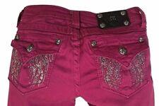 Miss Me Girls / Kids Size 14, Raspberry Angel Wing Skinny Jeans JK5616S3 NWT