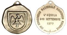 MEDAGLIA 14° CONGRESSO NAZIONALE GIURIDICO FORENSE 1977 L'AQUILA #A90