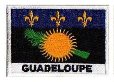 Patch écusson patche drapeau Guadeloupe 70 x 45 mm brodé à coudre
