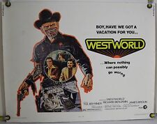 WESTWORLD ROLLED ORIG HALF-SHEET MOVIE POSTER YUL BRYNNER SCI-FI (1973)