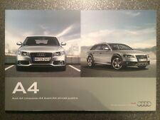 2011 Audi A4 & A4 Avant & A4 allroad quattro B8 Sales Brochure