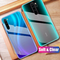 For Xiaomi Redmi Note 8T 8 7 6 5 ProCrystal Clear Soft Silicone Phone Case Cover