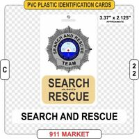 Search & Rescue SAR PVC ID Card Badge Air Ground Mountain Water K9 Plastic  C 22