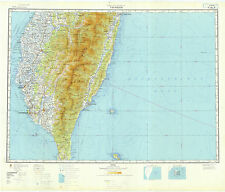 Russian Soviet Military Topographic Maps - TAIWAN SOUTH, 1:500 000, ed. 1971