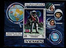 Yemen (Kingdom) Michel # Bl165A Perforate Apollo 11 Space