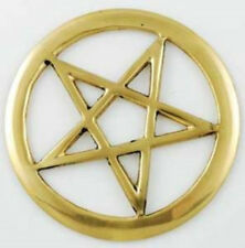 Three Inch Brass Pentagram   -Cut out design - Durable solid metal -