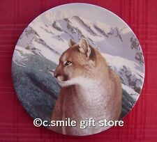 Thomas Hirata *Mountain Magic* Mountain Lion plate Bradford Exchange Mib w/Coa