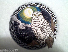 SNOWY OWL  NEW DESIGN SET OF 2 HAND TOWELS EMBROIDERED NEW