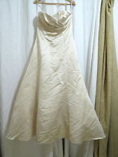 Watters & Watters Strapless Wedding Dress Champagne Color Size 12