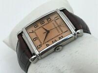 Emporio Armani Men Watch Brown Genuine Leather Band Analog Wrist Watch 5ATM AR04