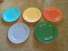 "Great Vintage HAZEL ATLAS  Set of 8 ""Color""  9"" DINNER  PLATES"