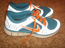 NIKE FREE RUN ID RUNNING SHOES BLUE ORANGE SILVER REFLECTIVE SIZE 5Y