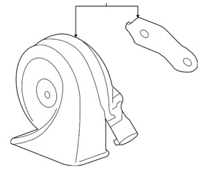 Genuine GM Low Note Horn 84594590