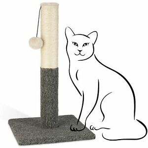 """PAWBEE Cat Scratching Post 20"""" Kitty Scratch Pole Sisal Rope & Hanging Ball Toy"""