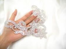Diamante Crystal Rhinestone Applique Trim Sew on Bridal Wedding Dress Belt 1 PCS