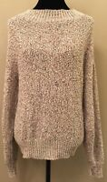 Willow Ridge Womens Sweater Size Large Gray Variegated Crew Neck Long Sleeve