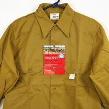 New listing New Vtg 70s 80s Jc Penney Big Mac Oxhide Cloth Work Shirt Mustard Men's 15x32.5