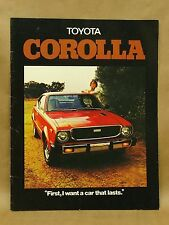 Vintage 1976 Toyota Corolla SR-5 Sedan Wagon Deluxe Brochure Book Catalog 10/75