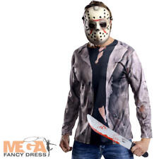 Jason Voorhees Mens Halloween Fancy Dress Horror Friday 13th Adults Costume Kit