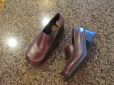 SFC Shoes for Crews Envy Brown Leather Women's 3100 7.5 1/2 / 38 work slip oil