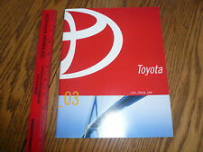 2003 Toyota Camry Corola Matrix Echo Tacoma Prius Sienna Sequoia Sales Brochure