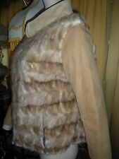 Vintage Mink Fur Jacket Coat M French