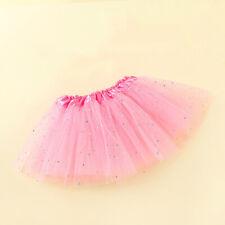 Kids Baby Star Glitter Dance Tutu Skirt Girl Tulle  Festival show Chiffon Skirt