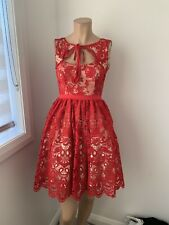 Kitten D'Amour Red Lace Cocktail Party Dress Size 6 Like New