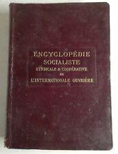 #3 ENCYCLOPÉDIE socialiste. Un peu d'histoire Quillet 1912