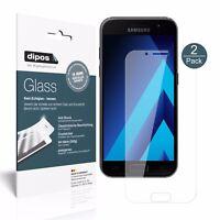 2x Samsung Galaxy A3 (2017) Schutzfolie - Folie Glasfolie 9H  dipos Glass