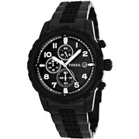 Fossil Mens FS4904 Dean Black Chronograph Dial Stainless Steel Watch