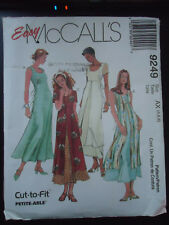 McCalls 9249 Misses Pullover Dress w/ Overskirt Easy Pattern AX(4,6,8) Uncut FF