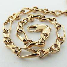 Necklace Pendant Chain Real 18K Rose G/F Gold Solid Twist Antique Design Fs3A144