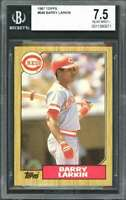 1987 topps #648 BARRY LARKIN cincinnati reds rookie card BGS 7.5