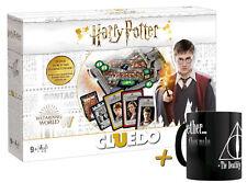 """Cluedo Harry Potter Juego de Mesa + Taza Mágica """"Deathly Hallows"""" Café"""
