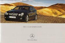 Mercedes-Benz C-Class Sports Coupe 2004 UK Market 24pp Sales Brochure