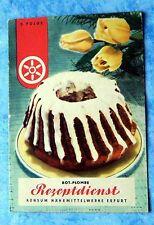Rot Plombe Rezeptdienst Erfurt Backen 5. Folge Kuchen Torte Kekse Rezepte 1957