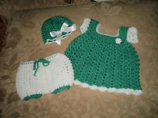 Handmade 3 Piece Baby Girl Set for 0 to 3 months