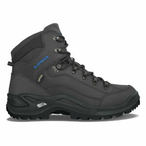 LOWA 3109459780 Men's Renegade GTX Mid Anthracite/Steel Blue Hiking Boots Shoes