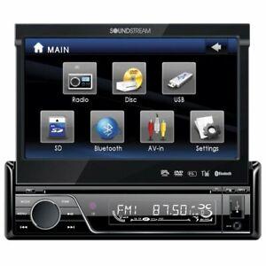 "SOUNDSTREAM VIR-7830B 7"" TOUCH SCREEN MONITOR BLUTOOTH CAR DVD/USB/CD/MP3 PLAYER"